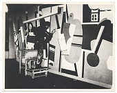 view Arshile Gorky working on <em>Activities on the field</em> digital asset number 1