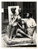 view Augusta Savage with her sculpture <em>Realization</em> digital asset number 1