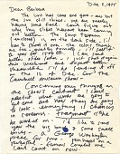 view Robert Arneson letter to Barbara Fendrick digital asset: page 1