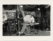 view Albert Paley at work on an end table digital asset number 1