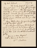 view Beatrice Fenton letter to Marjorie Martinet digital asset number 1