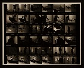 view Contact sheet of photographs showing Andy Warhol working at <em>Art in Process V</em> exhibition installation digital asset number 1