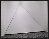 view Photograph of <em>Corner Piece</em> by Robert Morris in <em>Art in Process: the Visual Development of a Structure</em> exhibition at Finch College Museum of Art digital asset number 1