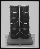 """view """"Six black cans"""" by Aaron Kuriloff digital asset number 1"""