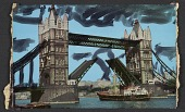 view Embellished postcard of the Tower Bridge in London digital asset number 1