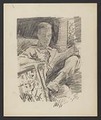 view Man reading a newspaper digital asset number 1