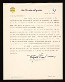 view Alfred Victor Frankenstein, San Francisco, Calif. letter to Lawrence Arthur Fleischman, Detroit, Mich. digital asset number 1