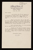 view Mary Bartlett Cowdrey, Passaic, N.J. letter to Lawrence Arthur Fleischman, Detroit, Mich. digital asset number 1