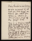 view Abraham Rattner, New York, N.Y. letter to Barbara and Lawrence Fleischman, Detroit, Mich. digital asset number 1