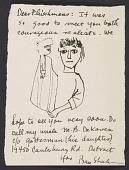 view Ben Shahn letter to Barbara and Lawrence Fleischman digital asset number 1