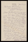 view William Zorach, Bath, Me. letter to Lawrence Arthur Fleischman, Detroit, Mich. digital asset number 1