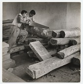 view Selecting wood at the Estudio de Artes Manuales. digital asset number 1