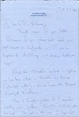 view Jacqueline Kennedy Onassis, Hyannis Port, Mass. letter to James Whitney Fosburgh digital asset: page 1