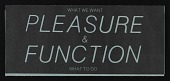 view Exhibition announcement for <em>Pleasure/Function</em>, Foundation for Art Resources digital asset number 1