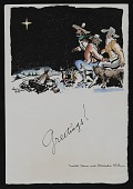 view Walt Kuhn Christmas card digital asset number 1
