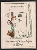 view Helen and Cleanthe Carr Christmas card to Alfred Frueh digital asset number 1