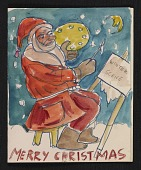 view Boris Artzybasheff Christmas card to Fred and Adelaide Gardner digital asset number 1