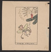 view Alfred Frueh Christmas card to Mr. and Mrs. Wood Gaylor digital asset number 1