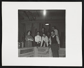 view Photograph of Sonia Gechtoff and others in basement of San Francisco Museum of Modern Art digital asset number 1