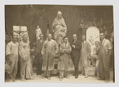 view Photograph of artists including Fritz Hoffman and Joseph Gerlach with Joseph Sibbel at Joseph Sibbel Studio digital asset: front