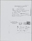 view Birth Certificate of Ira Glackens (photocopy; born 1907, document issued 1933) digital asset: Birth Certificate of Ira Glackens (photocopy; born 1907, document issued 1933)