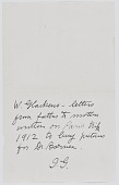 view Letters to Edith Glackens digital asset: Letters to Edith Glackens