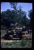 view Children playing on hay bales at Allan Kaprow's <em>Tree Happening</em> on George Segal's farm digital asset number 1