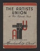 view Harry Gottlieb's Artists' Union membership card digital asset number 1