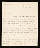 view Anthony Caro letter to Clement Greenberg digital asset number 1