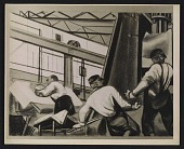 view A detail of William Gropper's <em>Automobile Industry</em> mural digital asset number 1