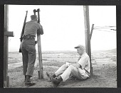 view John Groth sketching at the Korean truce line digital asset number 1