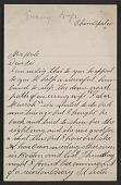 view Frank P. Leslie letter to Philip Leslie Hale digital asset number 1