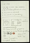 """view Frederick Hammersley notes on """"An idea"""" digital asset number 1"""