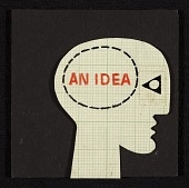view Frederick Hammersley collage <em>An idea</em> digital asset number 1
