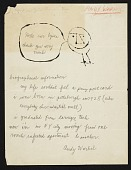 view Andy Warhol letter to Russell Lynes digital asset: page 1