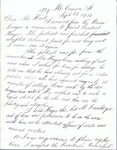 view Thomas Eakins letter to Charles Henry Hart digital asset: page 1