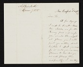 view Albert Bierstadt, New Bedford, Mass. letter to John Durand, New York, N.Y. digital asset number 1