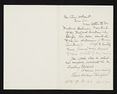 view Edwin Howland Blashfield letter to Charles Henry Hart, New York, N.Y. digital asset number 1
