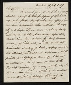 view John Henri Isaac Browere, New York, N.Y. letter to unidentified recipient, New York, N.Y. digital asset number 1