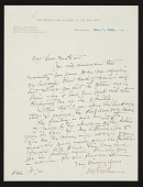 view William Merritt Chase, Philadelphia, Pa. letter to Charles Henry Hart digital asset number 1