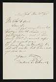 view Frederic Edwin Church, New York, N.Y. letter to Charles Henry Hart digital asset number 1