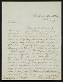 view Felix Octavius Carr Darley, New York, N.Y. letter to unidentified recipient, Philadelphia, Pa. digital asset number 1