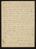 view Thomas Wilmer Dewing, Boston, Mass. letter to Charles Henry Hart, New York, N.Y. digital asset number 1
