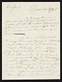view John Singleton Copley letter to unidentified recipient digital asset number 1