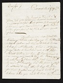 view John Singleton Copley letter to unidentified recipient, Florence, Italy digital asset number 1