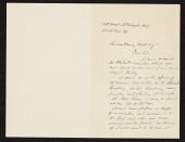 view William A. (William Anderson) Coffin, New York, N.Y. letter to Charles Henry Hart, New York, N.Y. digital asset number 1
