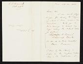 view Christopher Pearse Cranch, Paris, France letter to James Stillman, New York, N.Y. digital asset number 1