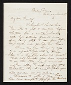 view Thomas Crawford, Bordentown, N.J. letter to Robert E. Launitz, New York, N.Y. digital asset number 1