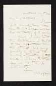 view Sanford Robinson Gifford, Montreal, Canada letter to Richard William Hubbard digital asset number 1