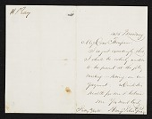 view Henry Peters Gray, New York, N.Y. letter to unidentified recipient digital asset number 1